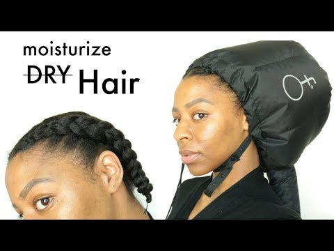 My Go To Protective Style for Moisture // Easy DRY Hair Treatment | T'keyah B