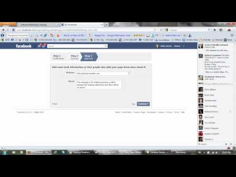 Creating Facebook Fan Page - Make Your Own Page Facebook