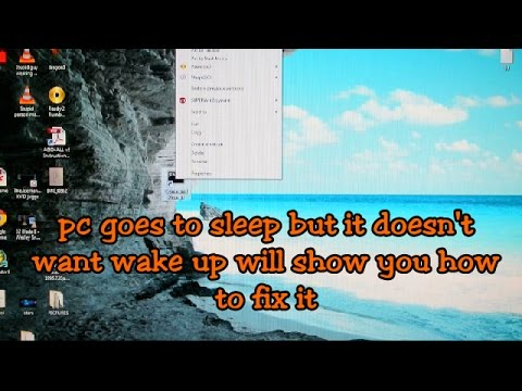 PC goes to sleep but it wont wake up (HOW TO FIX)