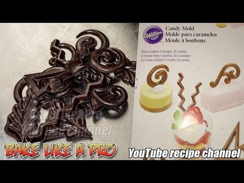 Easy To Make Chocolate Decoration with Wilton Chocolate Mold Tutorial