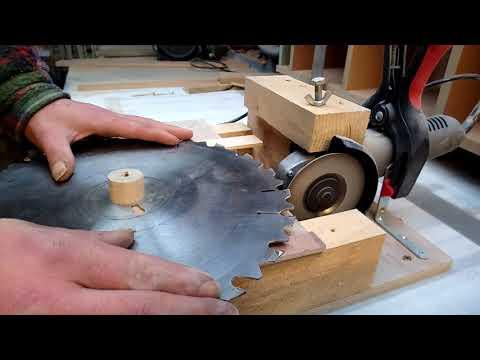 Homemade Circular Saw Blade Sharpener, Angle Grinder & Diamond Disk