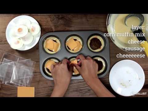 Sausage, Egg & Cheese Stuffed Breakfast Muffins