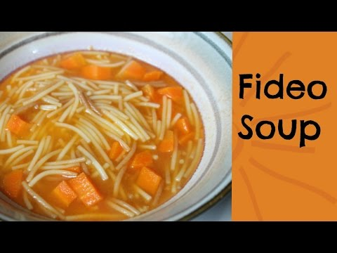 How to make Fideo Soup ( sopa de fideo)