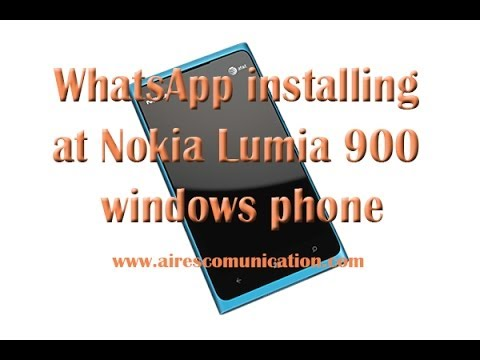 WhatsApp installing at Nokia Lumia 900 windows phone