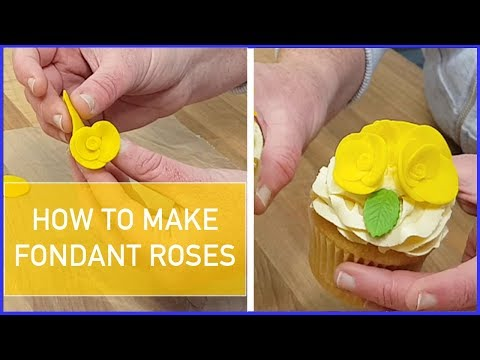 How to Make Fondant Roses and Edible Flowers- Cake Decorating Foundantions