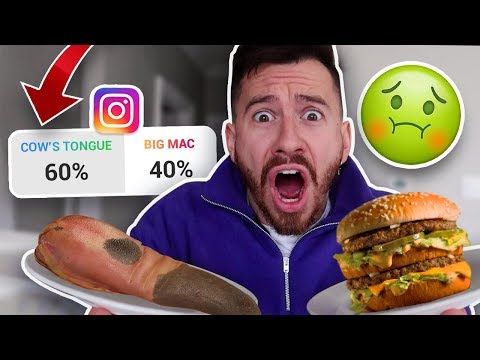 I Only Ate Foods My Fans Picked for 24 Hours!! **INSTAGRAM FAN POLLS DECIDE MY LIFE**