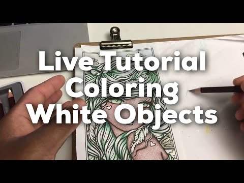 Coloring white objects using colored pencils: live stream tutorial!