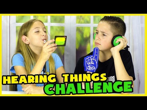 HEARING THINGS GAME CHALLENGE! WHISPER CHALLENGE!