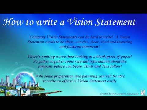 How to write Company Vision Statements