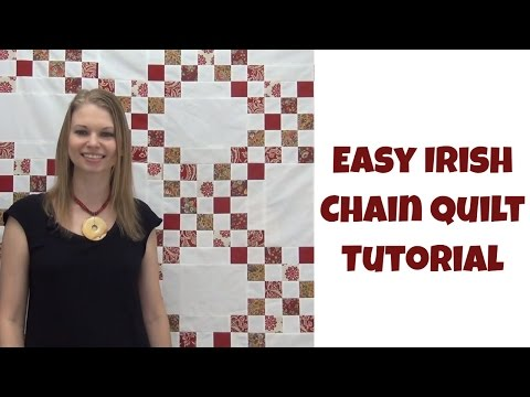 How to Make an Easy Irish Chain Quilt - Beginner Quilting Tutorial with Leah Day