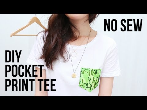 DIY Pocket Print Tee (No Sewing Required) | cathydiep