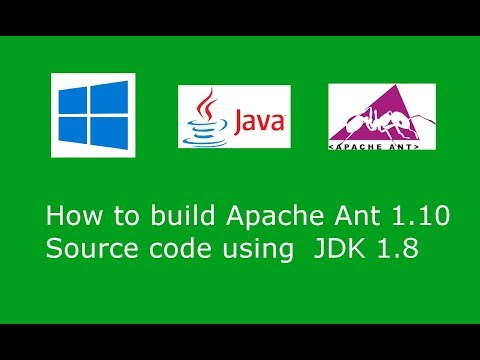 How to build  Ant 1.10.1 Source code using JDK 1.8 and Ant 1.9.9