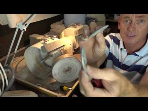 How to change a lapidary wheel on your machine