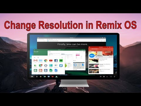 Change Screen Resolution in Remix OS for PC