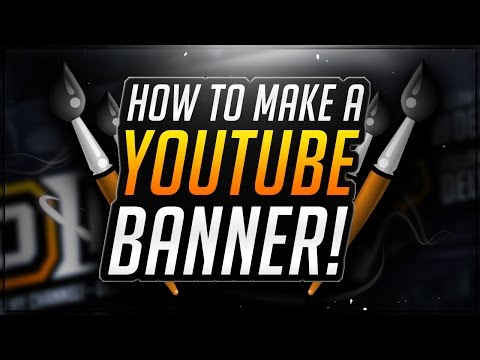 How To Make a YouTube Banner in Photoshop! CS6 Channel Art Tutorial!