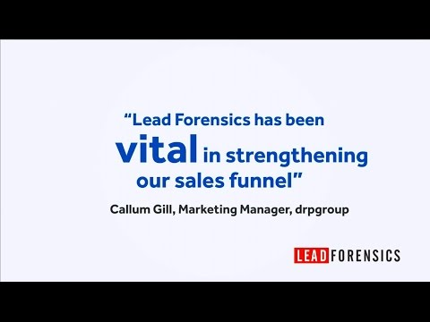 drpgroup generate 2,100% ROI from their investment in Lead Forensics
