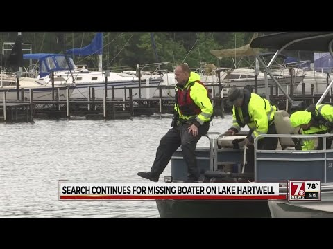 Search efforts continue for missing boater on Lake Hartwell