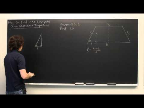 How to Find the Lengths of an Isosceles Trapezoid Given the Base Angles & Side Lengths