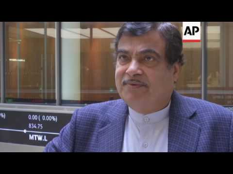 Indian minister opens London Stock Exchange