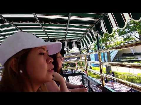 Tokyo Disneyland inside a tour bus attraction