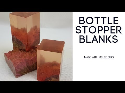 Making a bottle stopper blank with stabilised burr