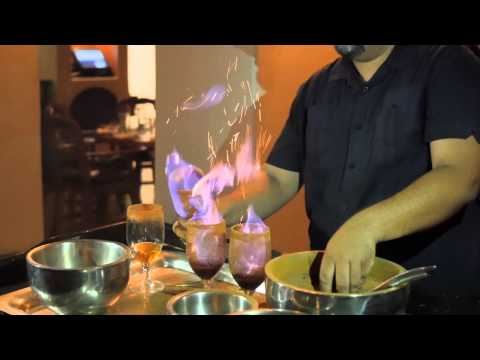 The Making of a Flaming Coffee at La Hacienda at The Scottsdale Fairmont Princess