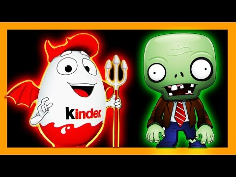 EPIC Halloween Costume for my Kinder Surprise Egg & Plants vs Zombies Toy (supercool4kids)