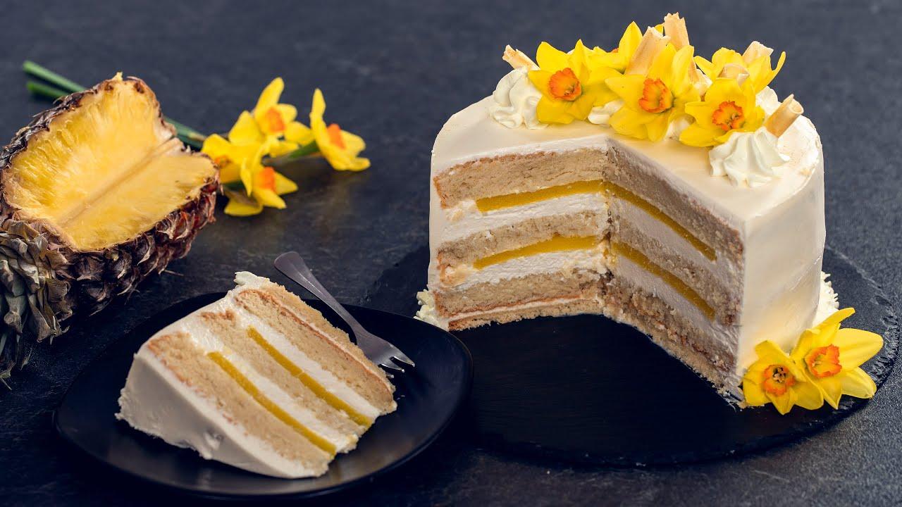 White Chocolate Pineapple Cake