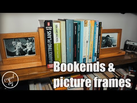 DIY bookends and picture frames in one - step by step build