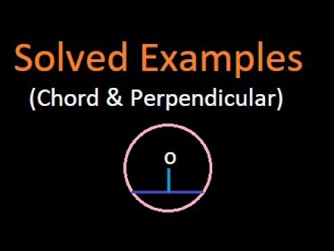 Solved questions (2)( shortcut) on chord and perpendicular on a chord | IBPS | Bank PO | SSC