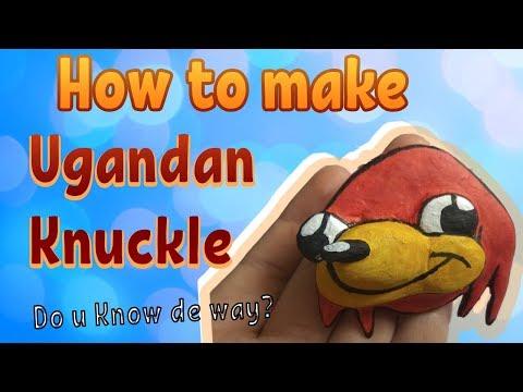 HOW TO MAKE UGANDAN KNUCKLES PAPER MACHE MAGNET