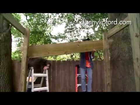 DIY Backyard Arbor Swing