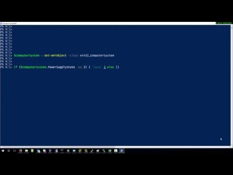 How to check the power supply status with Powershell