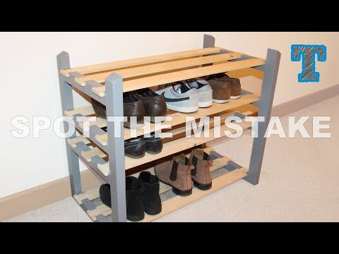 DIY Knock Down Shoe Rack | Home Organization