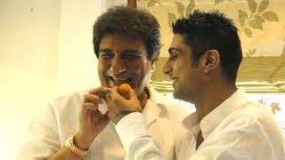 Raj Babbar Celebrations His 65th Birthday With Prateik Babbar