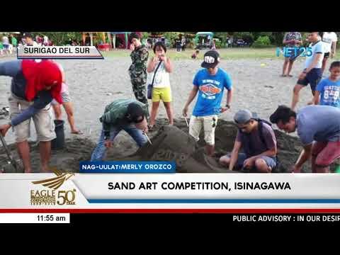 Sand Art Competition, isinagawa sa Tandag City