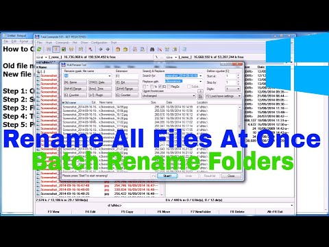 How to Rename multiple files at once