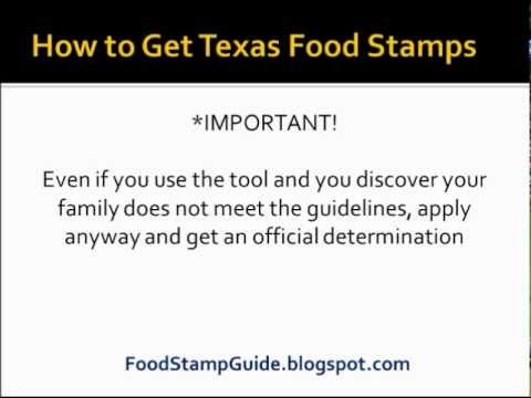 How to Apply for Food Stamps in Texas