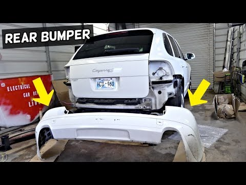 HOW TO REMOVE AND REPLACE REAR BUMPER COVER ON PORSCHE CAYENNE