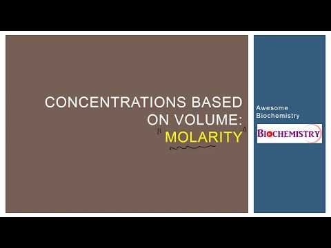 1  Concentrations based on volume - Molarity
