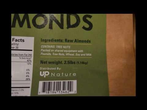 UpNature: 100% Natural Raw Almonds in a 2.5 lbs. Bag #Review #UpNatureRawAlmonds