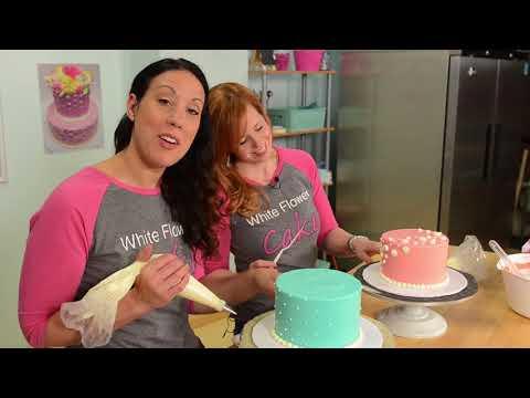 Buttercream Polka Dots , White Flower Cake Shoppe
