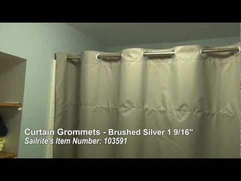 Curtain Grommet Installation - Large Grommets for up to 1 3/8