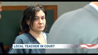 Ex-teacher Renee Rine pleads not guilty to felony charges in student sex case