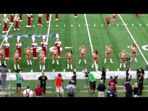Brenna's first halftime as a Crimsonette - USC v. Bama @ AT&T Stadium in Dallas, 9/3/2016