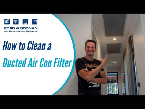 How to clean your ducted air conditioning filter