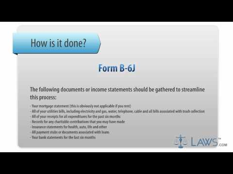 Learn How to Fill the Form B-6 J Schedule J- Current Expenditures of Individual Debtor(s)