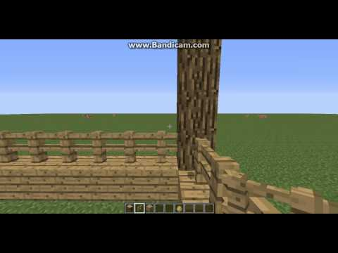 Minecraft Tutorial : How to build : Horse stables, paddocks and meadows 1/4