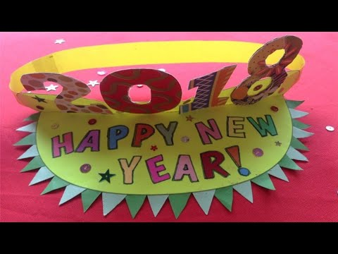 DIY New Year Visor Hat - Fun & Creative New Year Hat For Kids