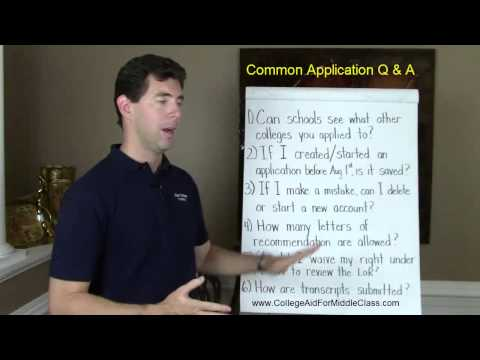 Common Application Questions & Answers